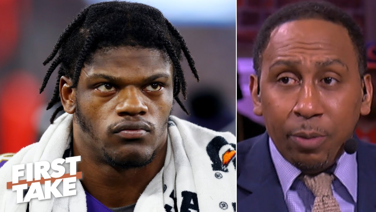 Stephen A. doesnt hold back on criticizing Lamar Jackson First Take HD quality image