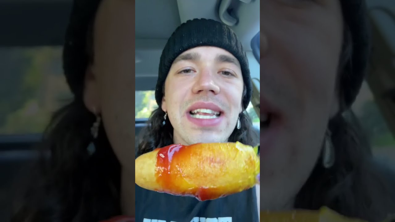 The ONLY way to eat a Corn Dog #shorts HD quality image