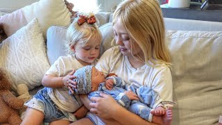 Everleigh And Posie Meet Their Baby Brother For The First Time!!! (CUTEST REACTIONS EVER) Screenshot