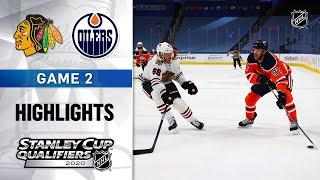 NHL Highlights   Blackhawks @ Oilers, GM2 - Aug. 3, 2020 Screenshot