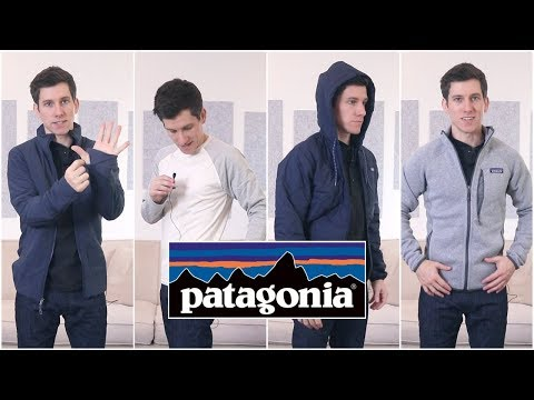 Trying On Patagonia Jackets and Long Sleeve Shirts (XS, XXS, Slim Fit) MQ quality image