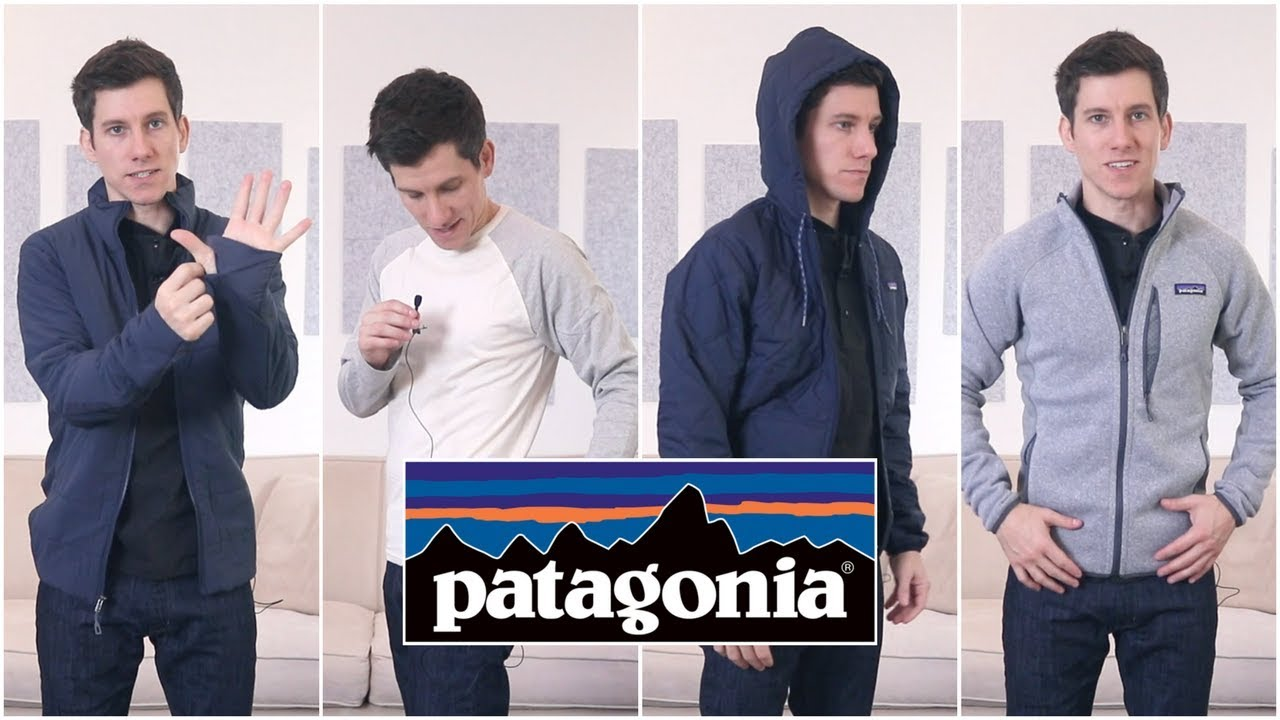 Trying On Patagonia Jackets and Long Sleeve Shirts (XS, XXS, Slim Fit) HD quality image