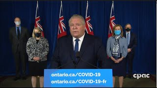 COVID-19 in Ontario: Stay-at-home order to begin Thursday, January 14th; state of emergency declared MD quality image