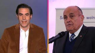 Sacha Baron Cohen RESPONDS to Rudy Giuliani's Explanation of His Borat 2 Scene Screenshot
