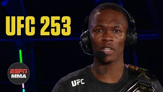 Israel Adesanya recaps win vs. Paulo Costa UFC 253 Post Show ESPN MMA MD quality image