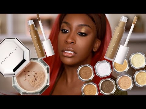 Has FENTY Done It Again?! Pro Filt'r Concealer & Setting Powder Review Jackie Aina MQ quality image