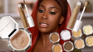 Has FENTY Done It Again?! Pro Filt'r Concealer & Setting Powder Review Jackie Aina MD quality image