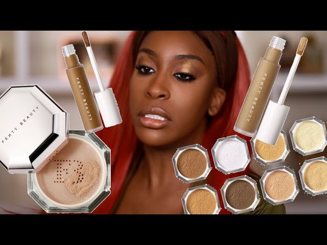 Has FENTY Done It Again?! Pro Filt'r Concealer & Setting Powder Review Jackie Aina HQ quality image