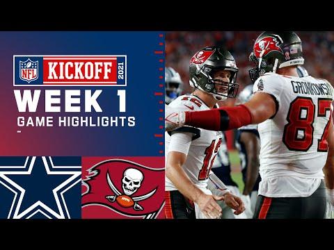 Dallas Cowboys vs. Tampa Bay Buccaneers Week 1 2021 Game Highlights MQ quality image