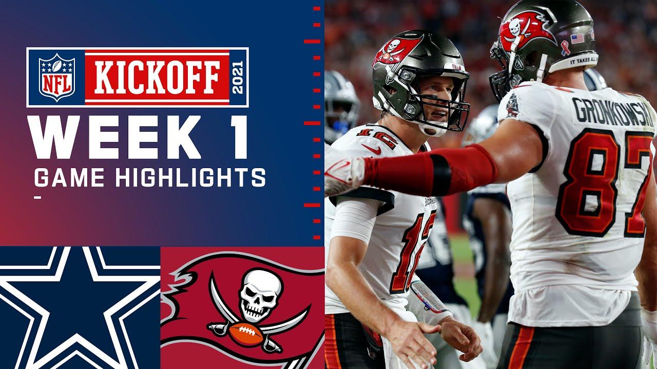 Dallas Cowboys vs. Tampa Bay Buccaneers Week 1 2021 Game Highlights HD quality image