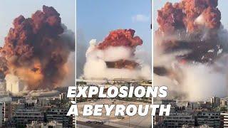Les images terrifiantes de la double explosion survenue à Beyrouth Screenshot