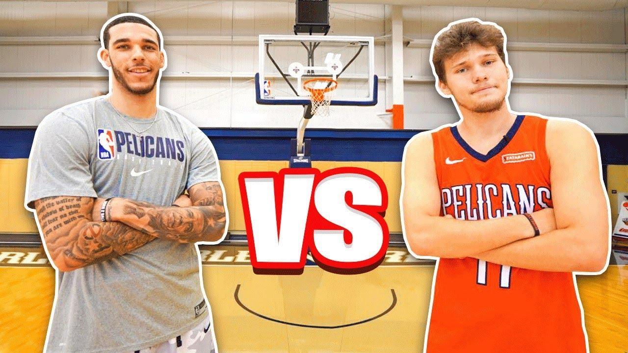 Epic NBA Basketball QnA TRICKSHOTS vs Lonzo Ball! HD quality image