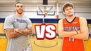 Epic NBA Basketball QnA TRICKSHOTS vs Lonzo Ball! MD quality image