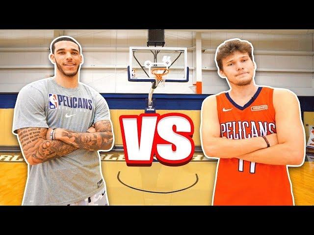 Epic NBA Basketball QnA TRICKSHOTS vs Lonzo Ball! HQ quality image