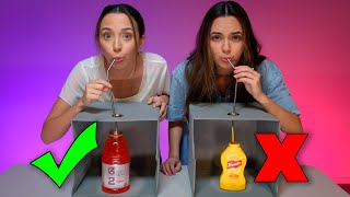 DON'T CHOOSE THE WRONG MYSTERY DRINK CHALLENGE! - Merrell Twins Screenshot