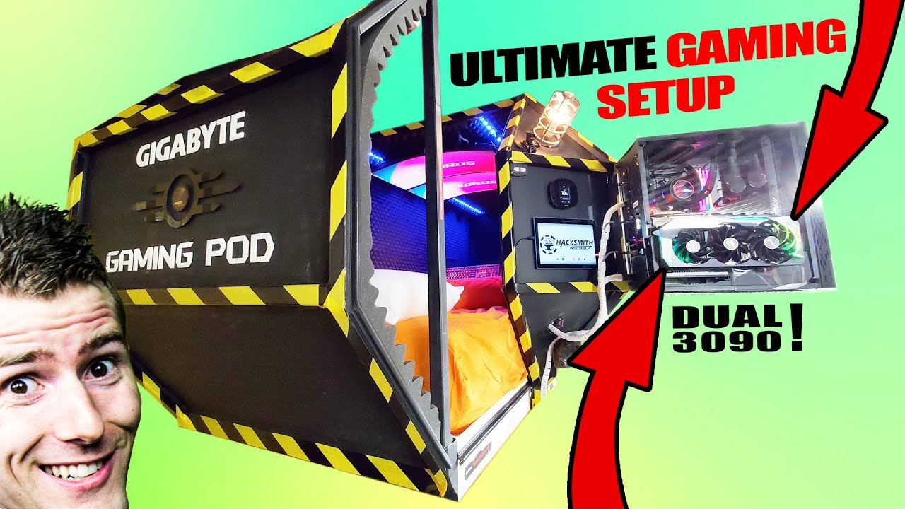 We made the ULTIMATE GAMING POD! HD quality image