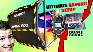 We made the ULTIMATE GAMING POD! MD quality image