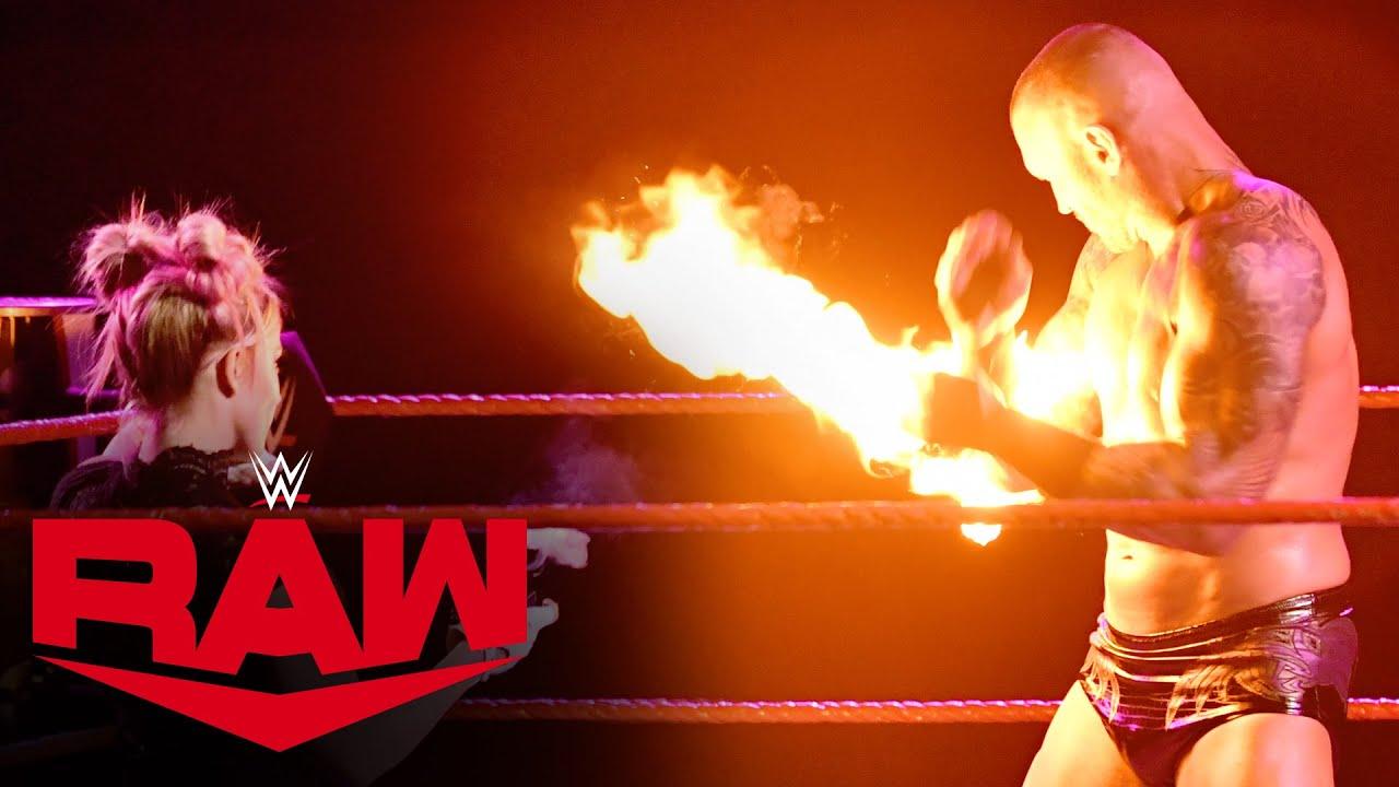 Alexa Bliss hits Randy Orton with a fireball: Raw, Jan. 11, 2021 HD quality image