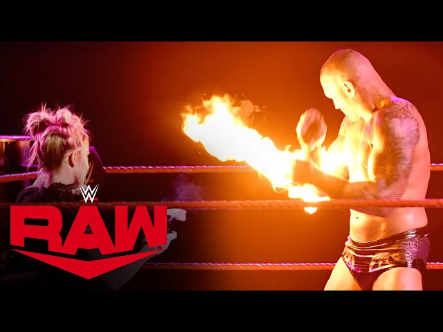 Alexa Bliss hits Randy Orton with a fireball: Raw, Jan. 11, 2021 HQ quality image