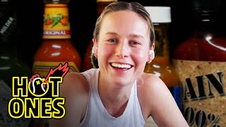 Brie Larson Takes On a New Form While Eating Spicy Wings | Hot Ones Screenshot