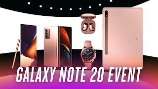 Samsung Galaxy Note 20 event in under 9 minutes Screenshot