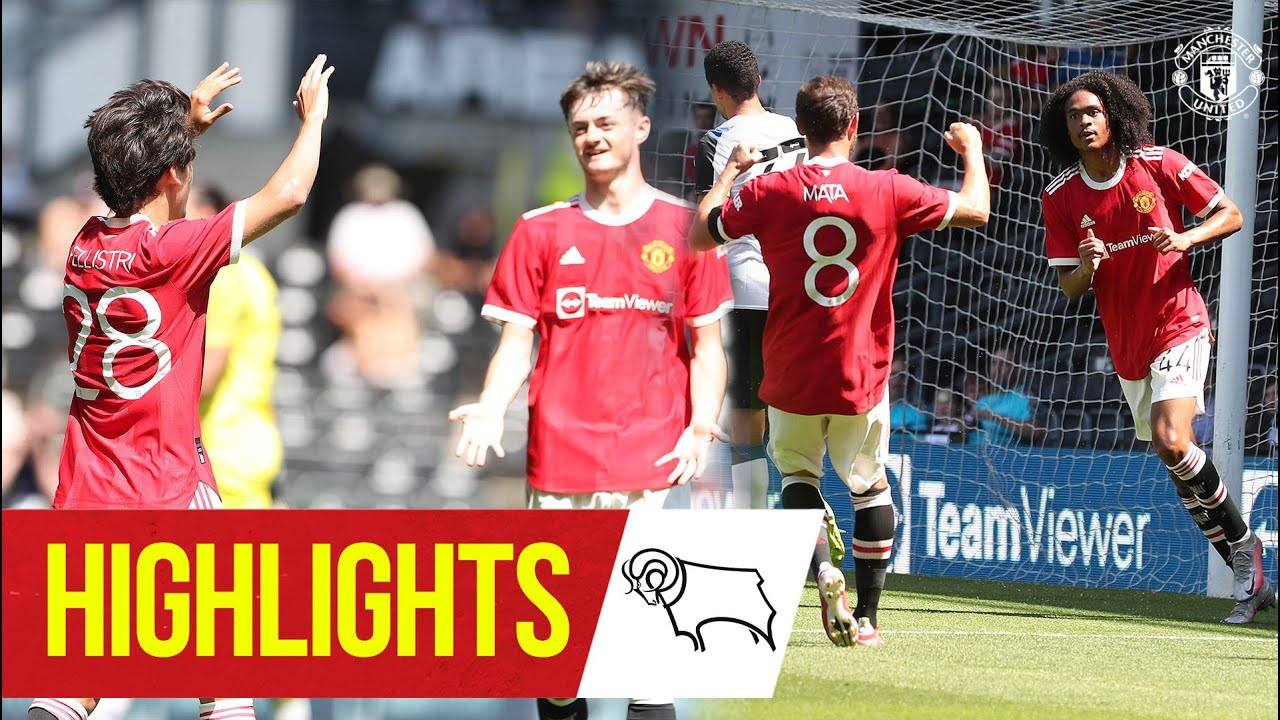 Chong & Pellistri give Reds victory at Derby Highlights Derby County 1-2 Manchester United HD quality image