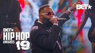 Rick Ross & T-Pain Hit Stage To Perform Maybach Music, Boss & More! Hip Hop Awards 19 MD quality image