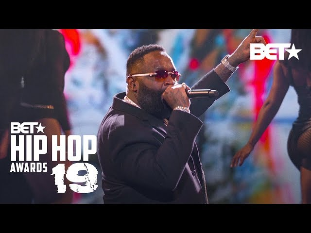 Rick Ross & T-Pain Hit Stage To Perform Maybach Music, Boss & More! Hip Hop Awards 19 HQ quality image