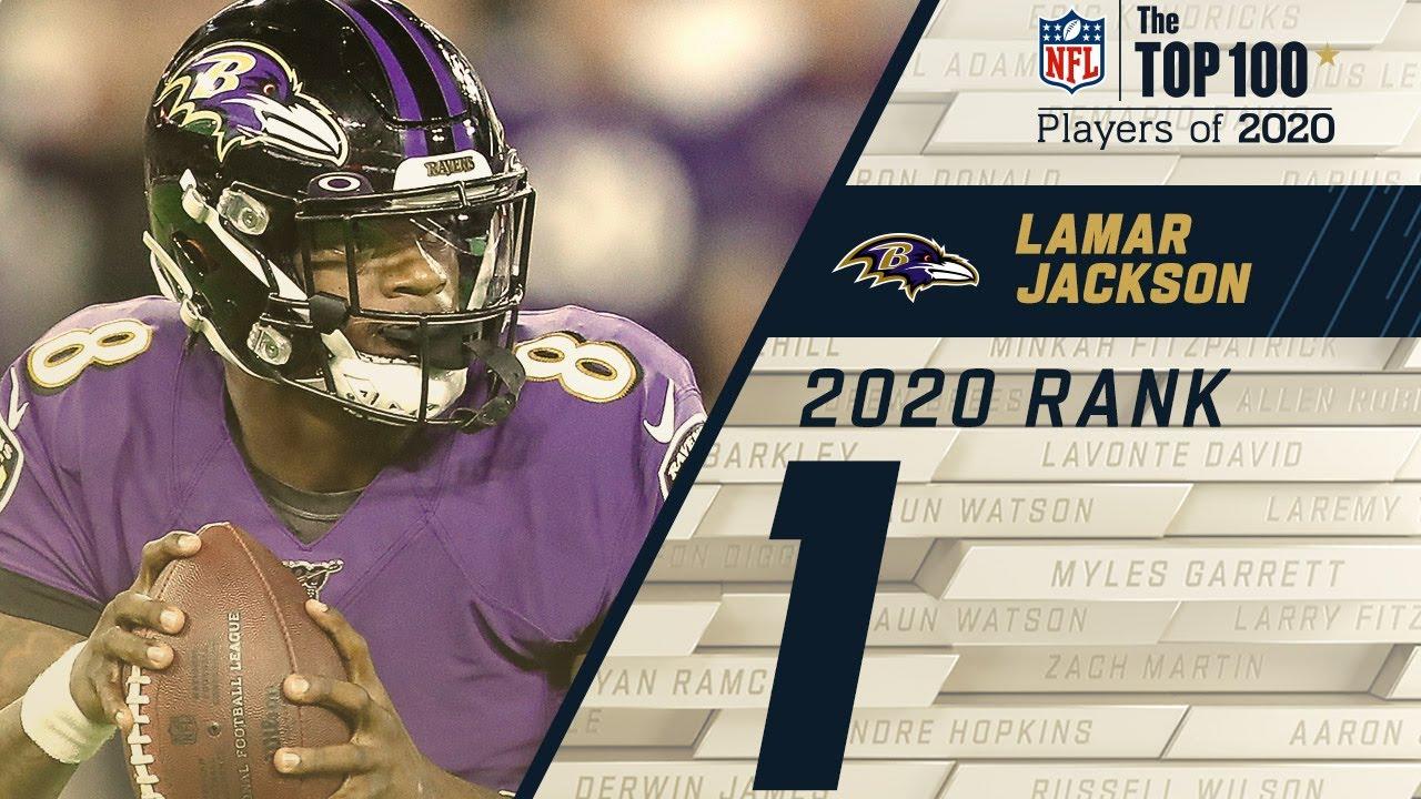 #1: Lamar Jackson (QB, Ravens) Top 100 NFL Players of 2020 HD quality image