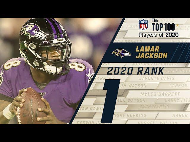 #1: Lamar Jackson (QB, Ravens) Top 100 NFL Players of 2020 HQ quality image