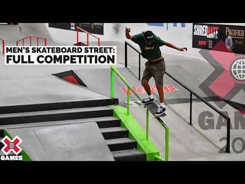 Mens Skateboard Street: FULL COMPETITION X Games 2021 MQ quality image