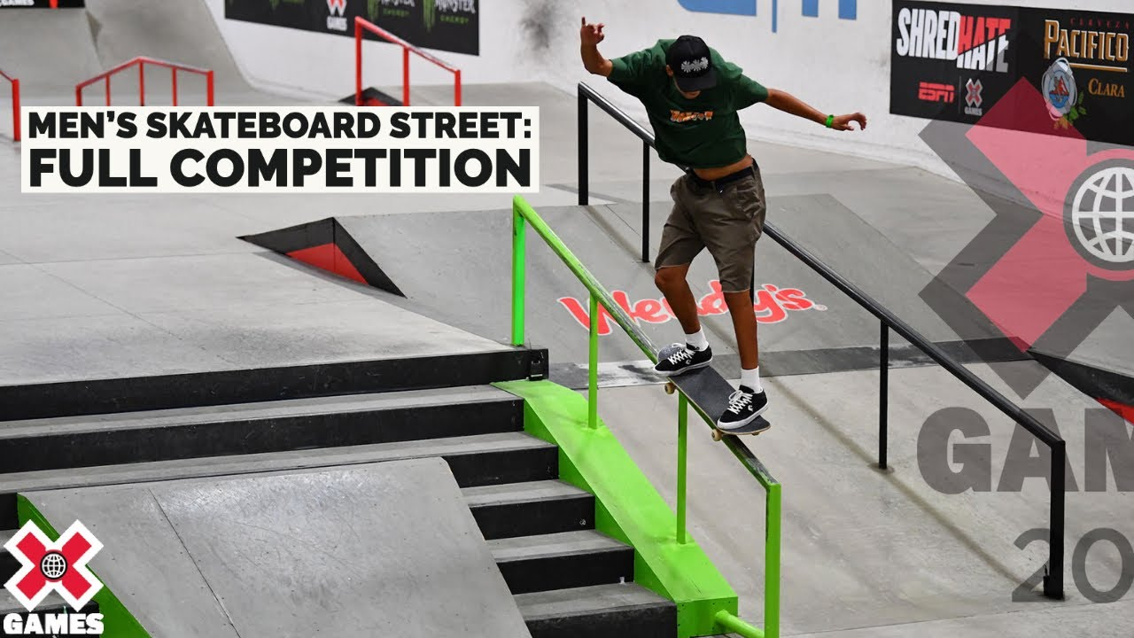 Mens Skateboard Street: FULL COMPETITION X Games 2021 HD quality image
