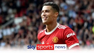Reaction after Cristiano Ronaldo scores twice on his Manchester United return MD quality image
