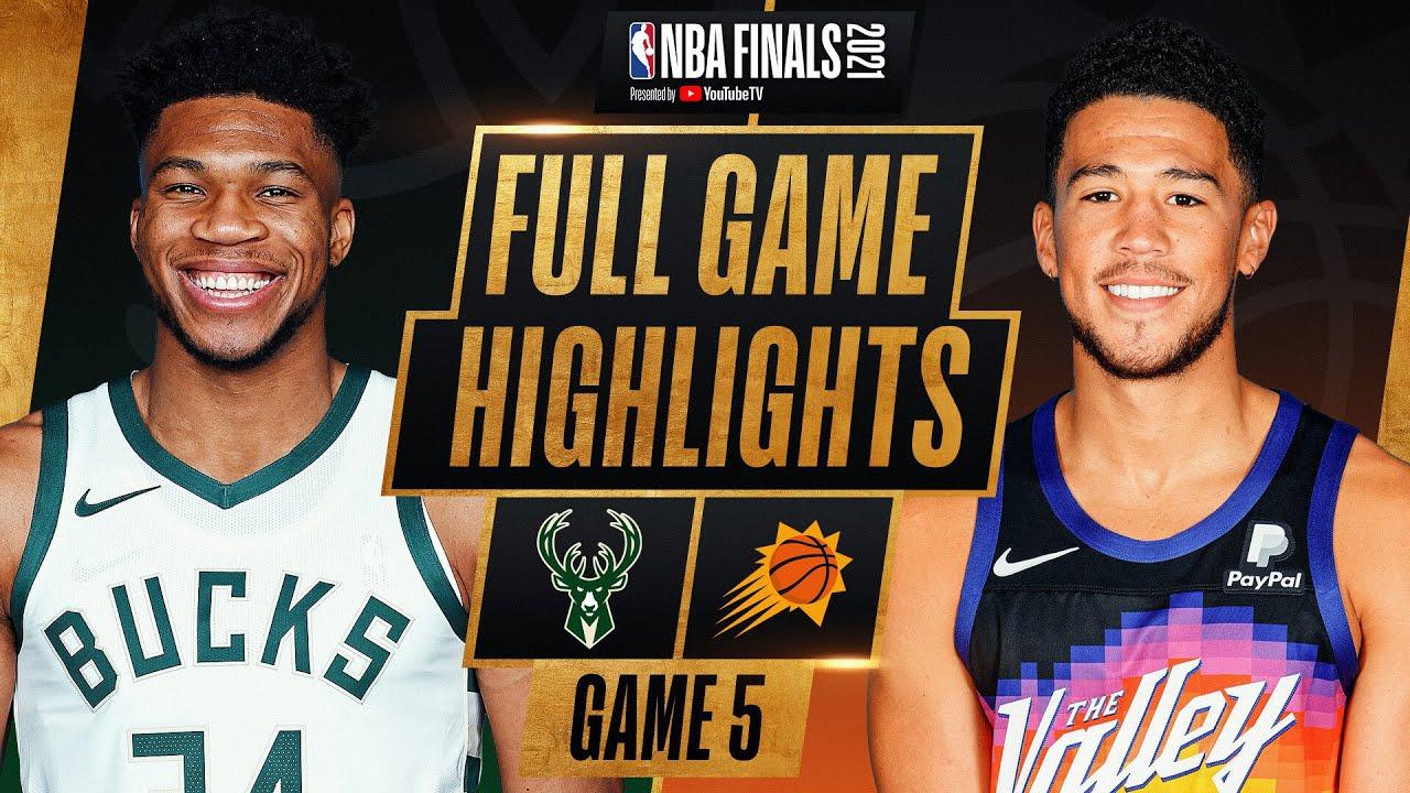 BUCKS at SUNS FULL GAME 5 NBA FINALS HIGHLIGHTS July 17, 2021 HD quality image