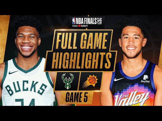 BUCKS at SUNS FULL GAME 5 NBA FINALS HIGHLIGHTS July 17, 2021 HQ quality image
