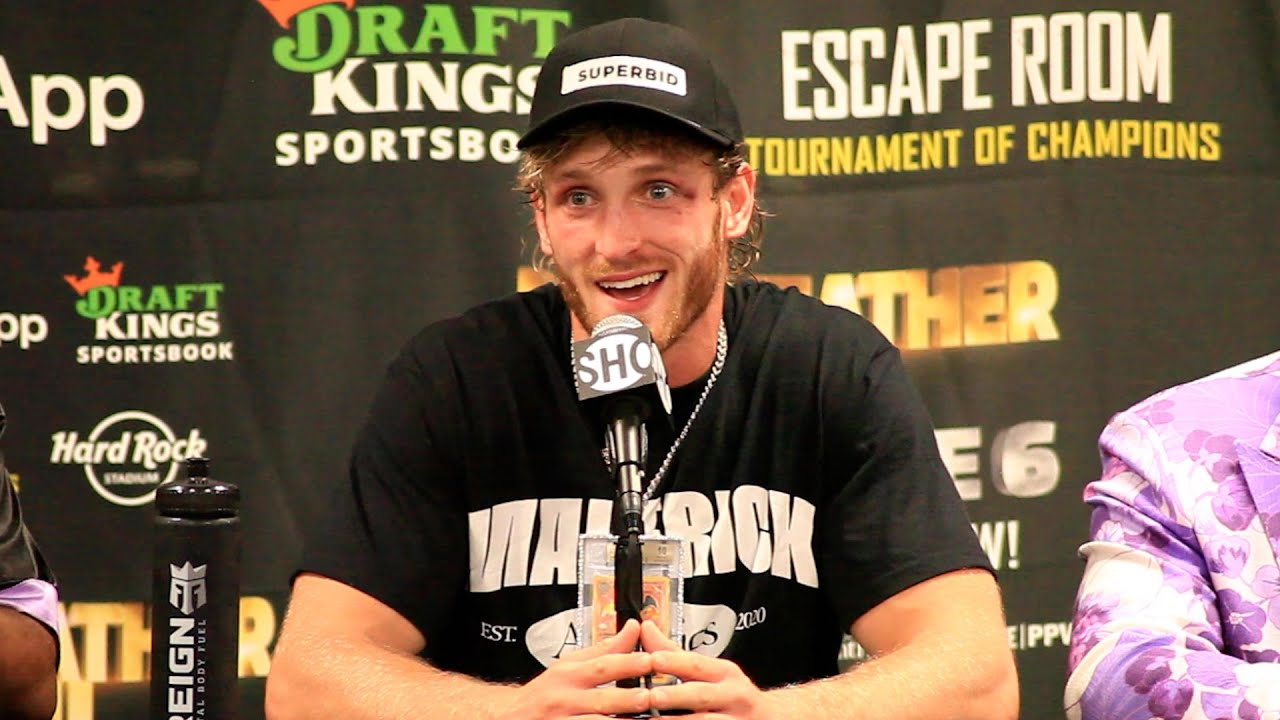 Logan Paul's IMMEDIATE REACTION to Floyd Mayweather Exhibition Fight Showtime Boxing HD quality image