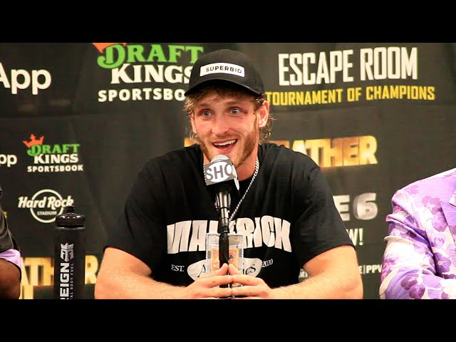 Logan Paul's IMMEDIATE REACTION to Floyd Mayweather Exhibition Fight Showtime Boxing HQ quality image