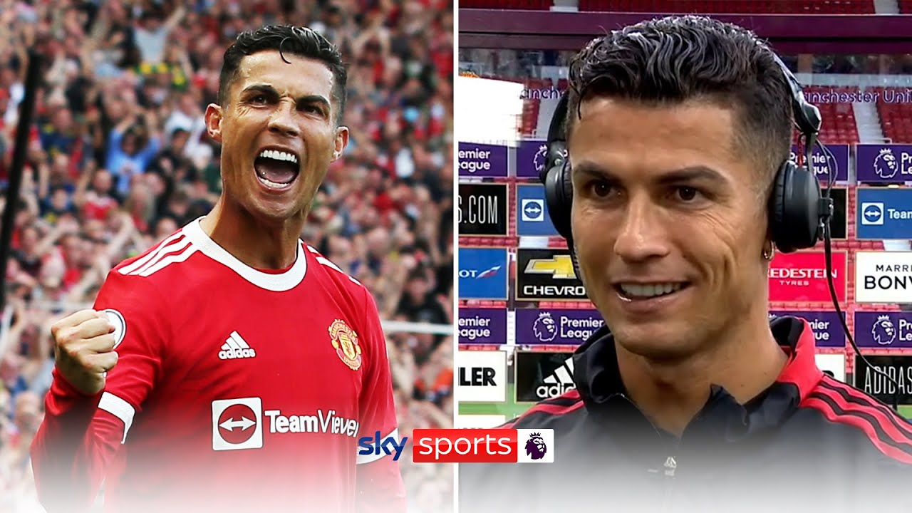 I expected one, but not two Ronaldo speaks after homecoming brace! HD quality image