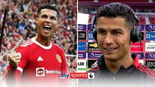I expected one, but not two Ronaldo speaks after homecoming brace! MD quality image