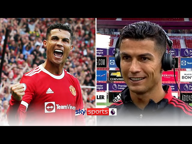 I expected one, but not two Ronaldo speaks after homecoming brace! HQ quality image