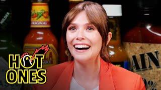 Elizabeth Olsen Feels Brave While Eating Spicy Wings   Hot Ones Screenshot
