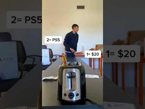 Money Toaster Challenge! 2 #shorts MQ quality image