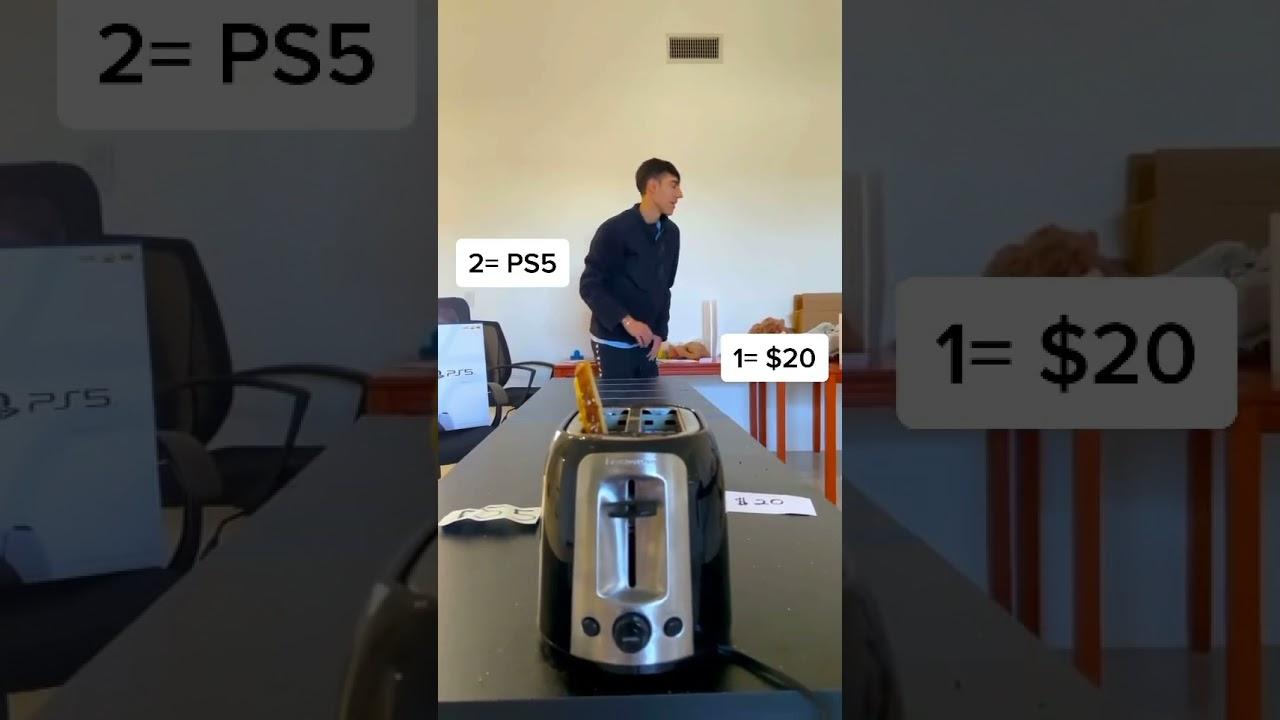 Money Toaster Challenge! 2 #shorts HD quality image
