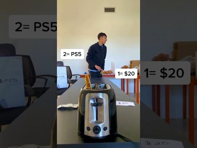 Money Toaster Challenge! 2 #shorts HQ quality image