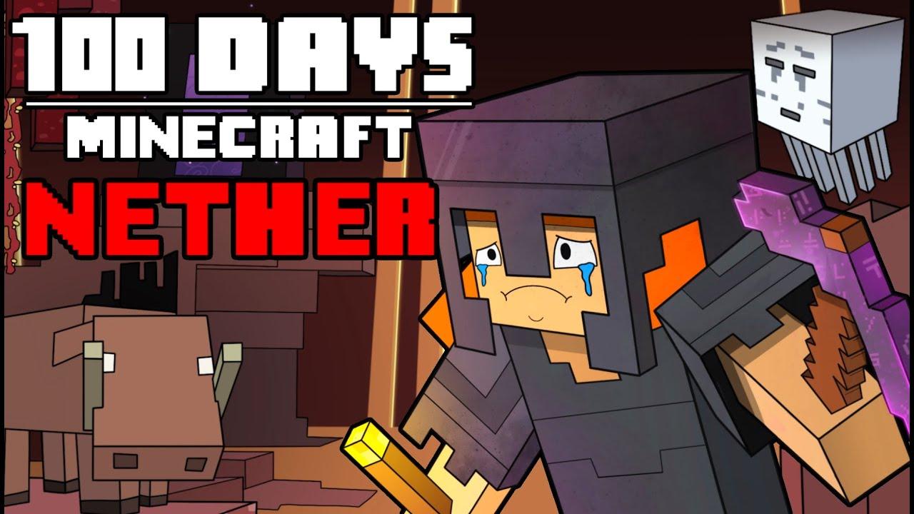 100 Days - [Minecraft Nether] HD quality image