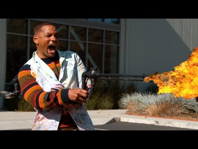 We gave Will Smith a Flame Thrower - The Slow Mo Guys HQ quality image