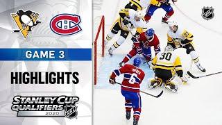 NHL Highlights | Penguins @ Canadiens, GM3 - Aug. 5, 2020 Screenshot