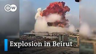 Massive explosion in Beirut   DW News Screenshot
