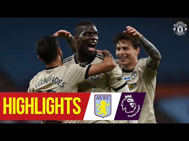 Highlights Fernandes, Greenwood & Pogba on target as Reds win Aston Villa 0-3 Manchester United HQ quality image