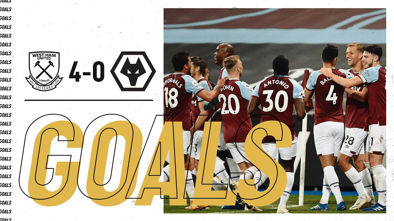 GOALS WEST HAM UNITED 4-0 WOLVES HD quality image